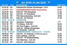 AH Spielplan 2020