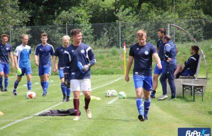 Vorbereitung auf ein Fußballspiel